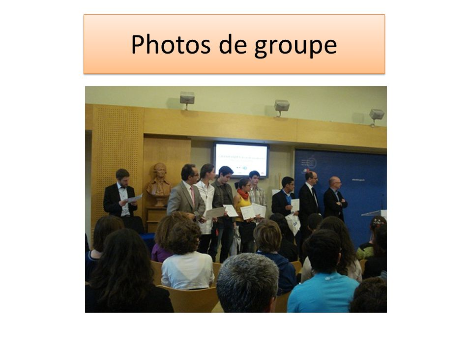 Photos de groupe