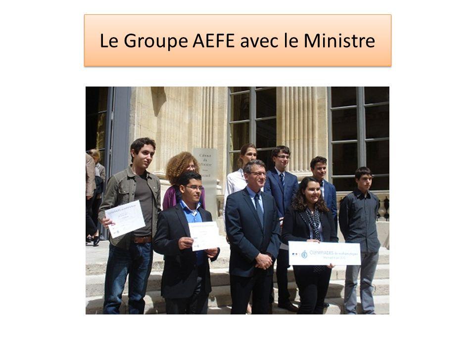 Le Groupe AEFE avec le Ministre