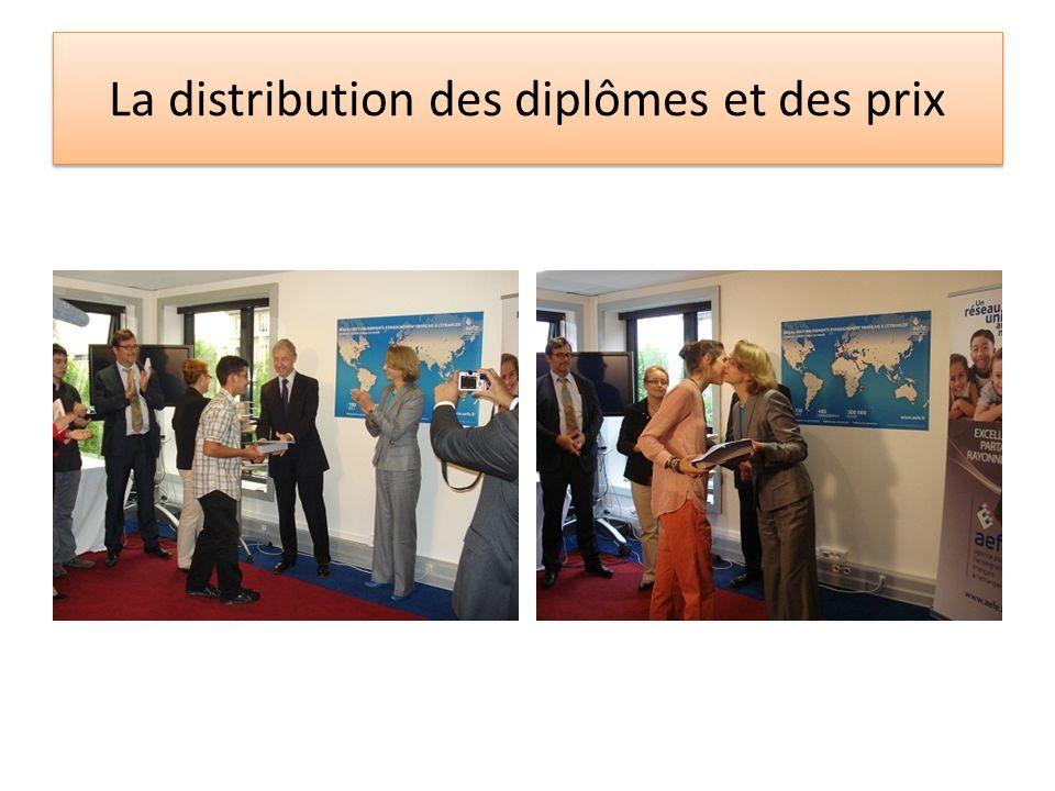 La distribution des diplômes et des prix