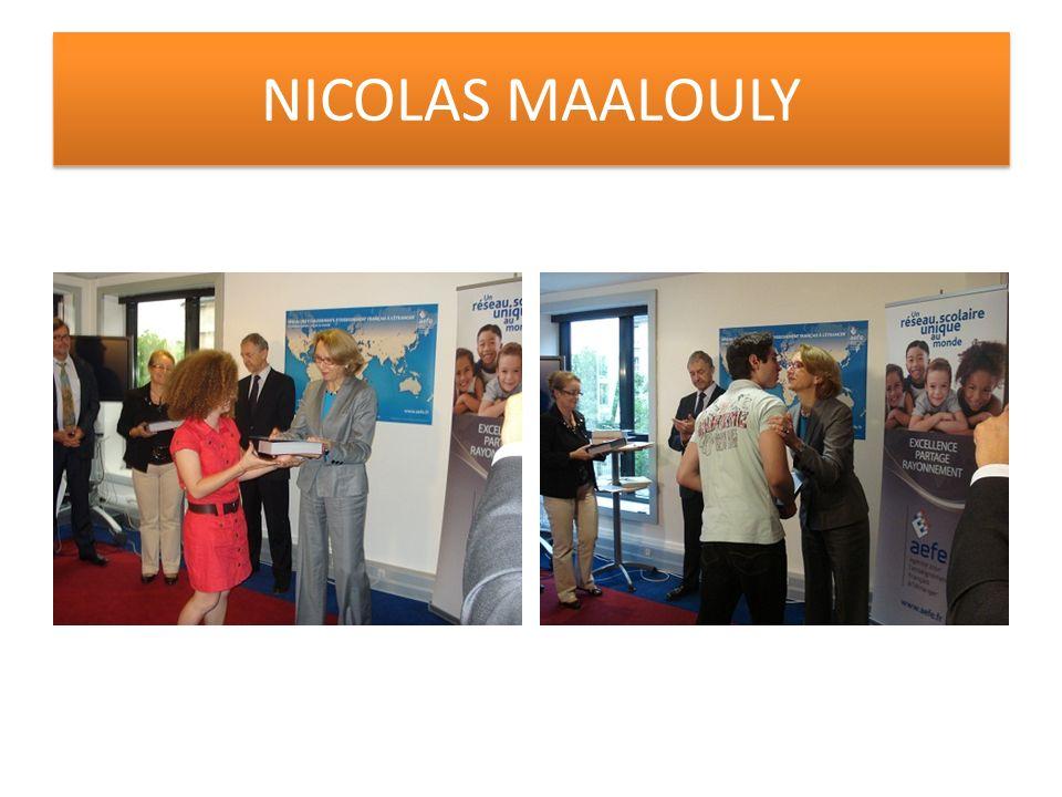 NICOLAS MAALOULY