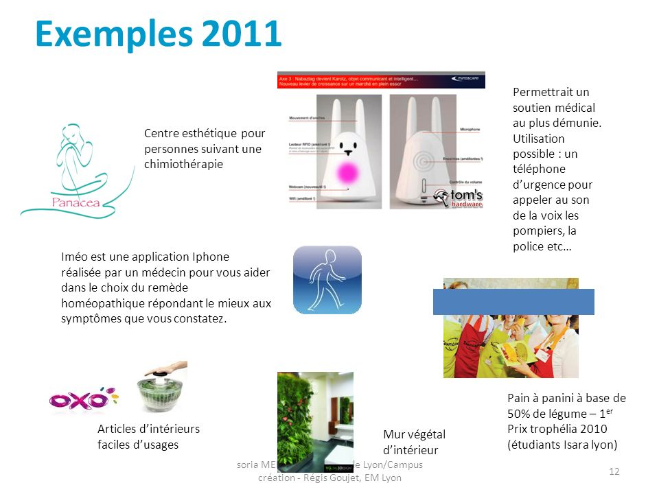 Exemples 2011