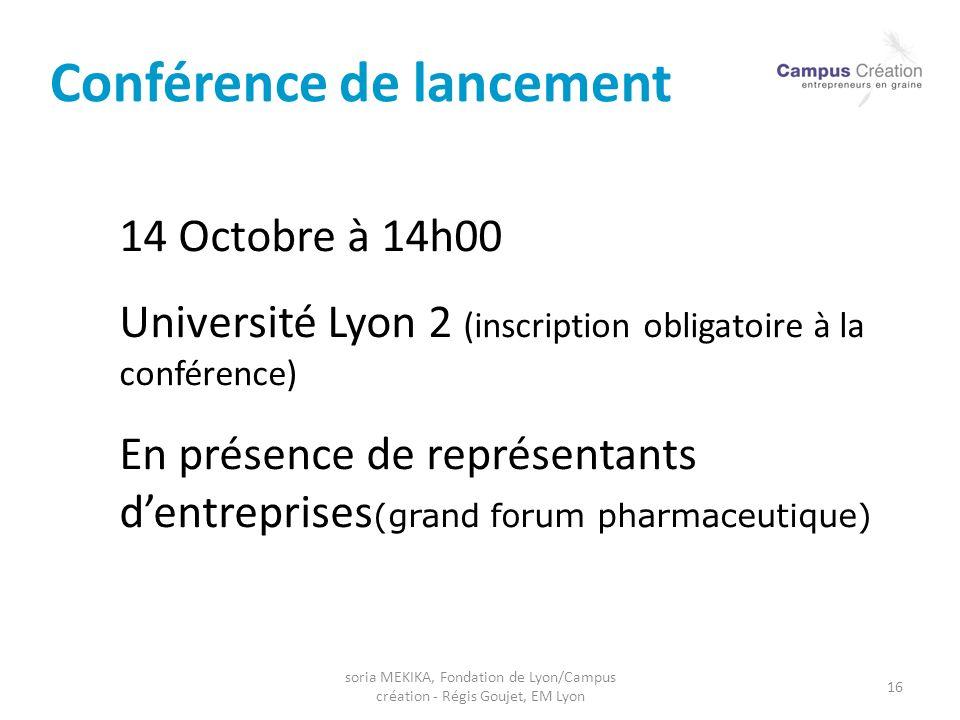 Conférence de lancement