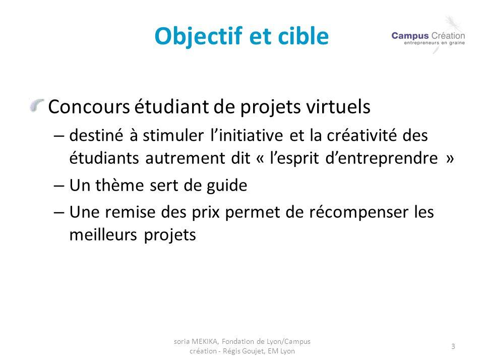 Objectif et cible Concours étudiant de projets virtuels