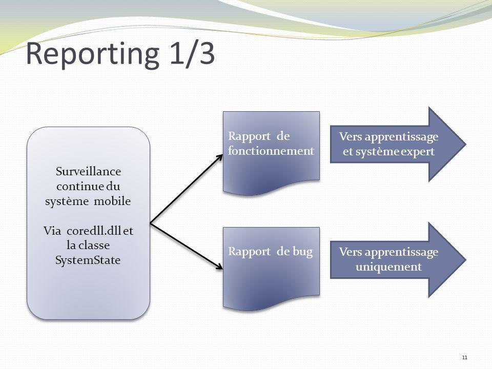 Reporting 1/3 Vers apprentissage et système expert