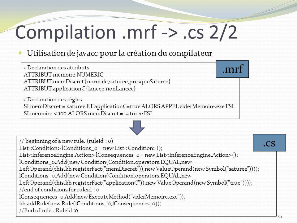Compilation .mrf -> .cs 2/2