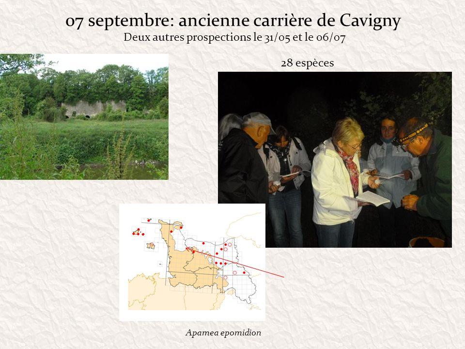 07 septembre: ancienne carrière de Cavigny