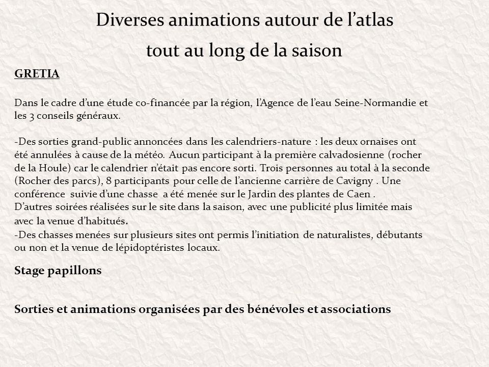 Diverses animations autour de l'atlas tout au long de la saison