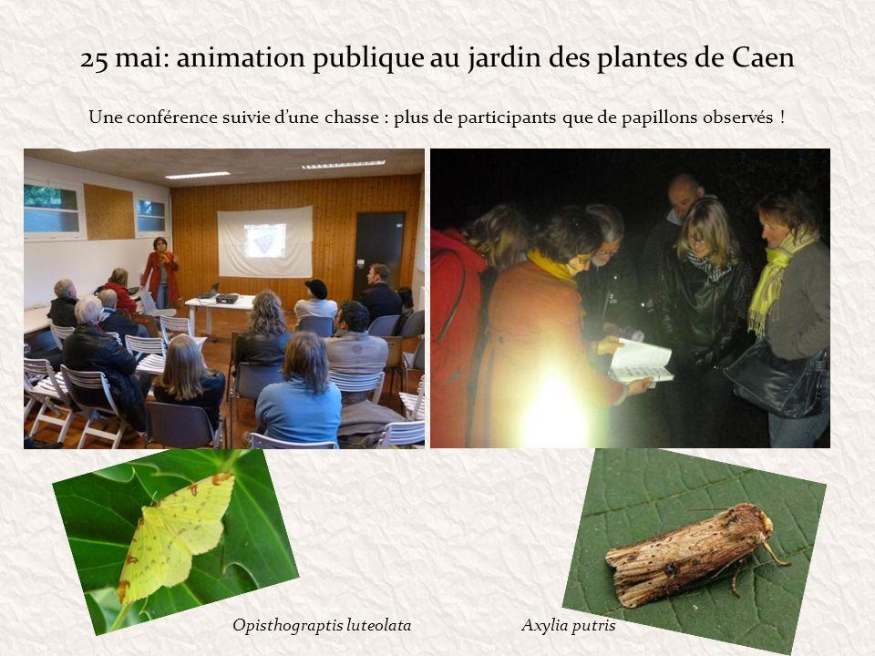 25 mai: animation publique au jardin des plantes de Caen