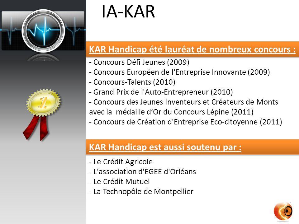 IA-KAR KAR Handicap été lauréat de nombreux concours :