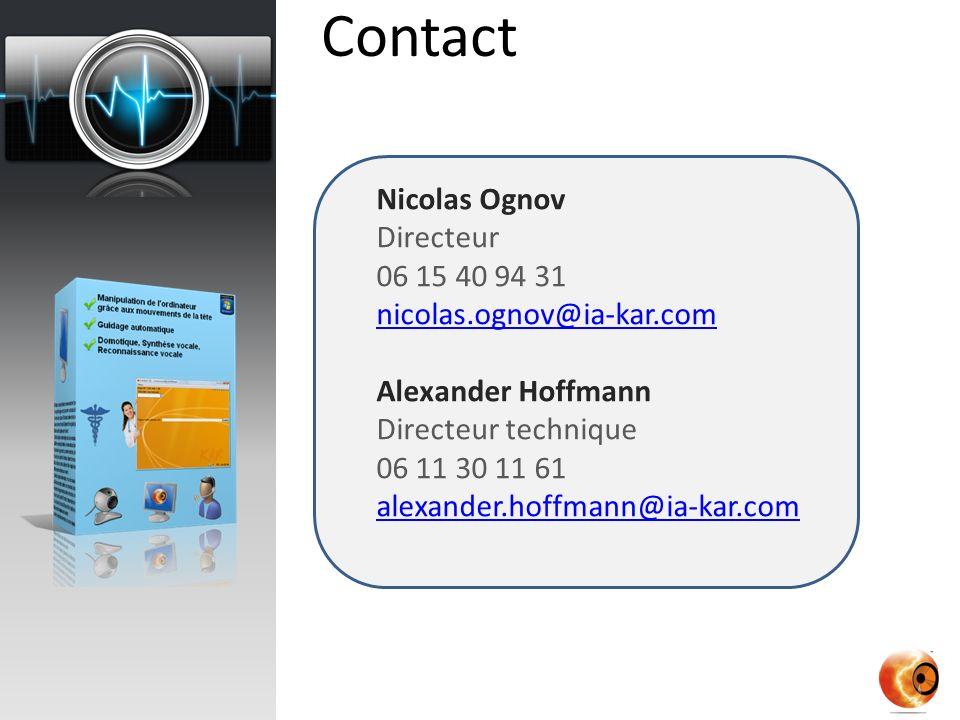 Contact Nicolas Ognov Directeur 06 15 40 94 31