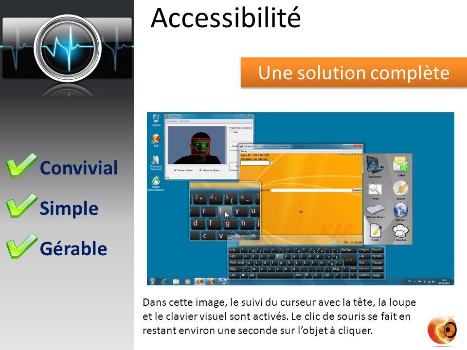 Accessibilité Une solution complète Convivial Simple Gérable