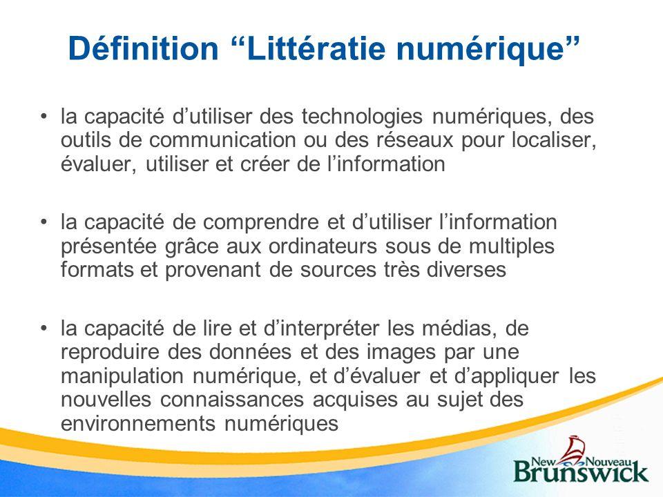 Définition Littératie numérique