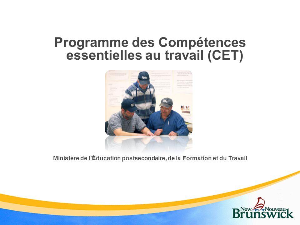 Programme des Compétences essentielles au travail (CET)
