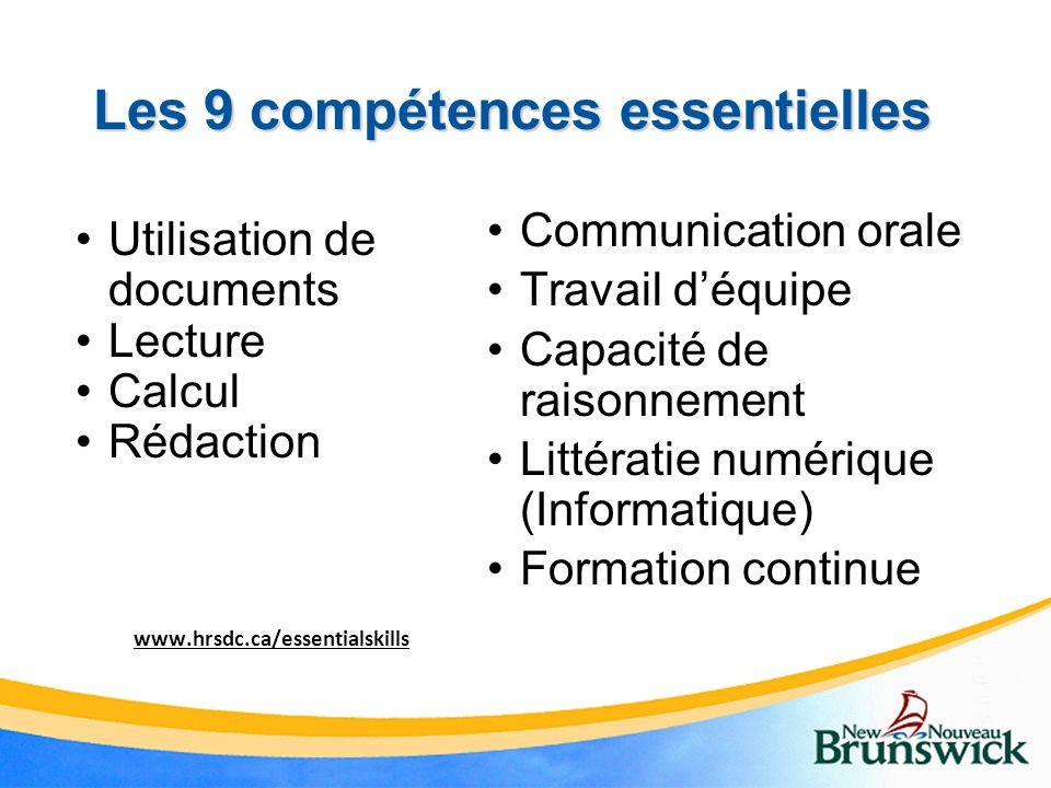 Les 9 compétences essentielles