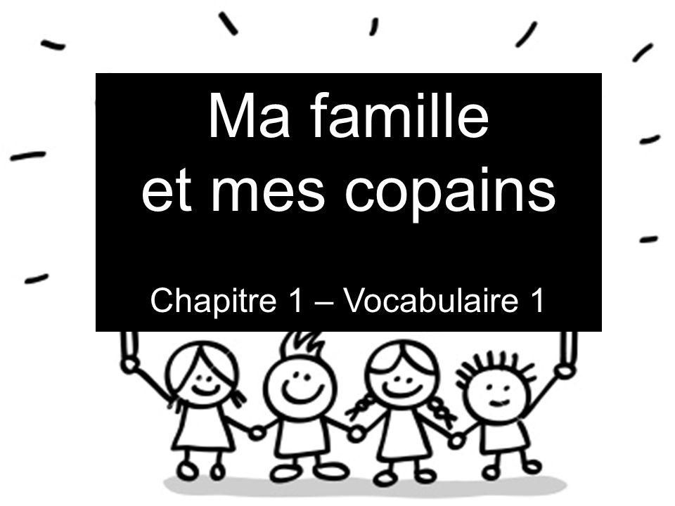 Chapitre 1 – Vocabulaire 1