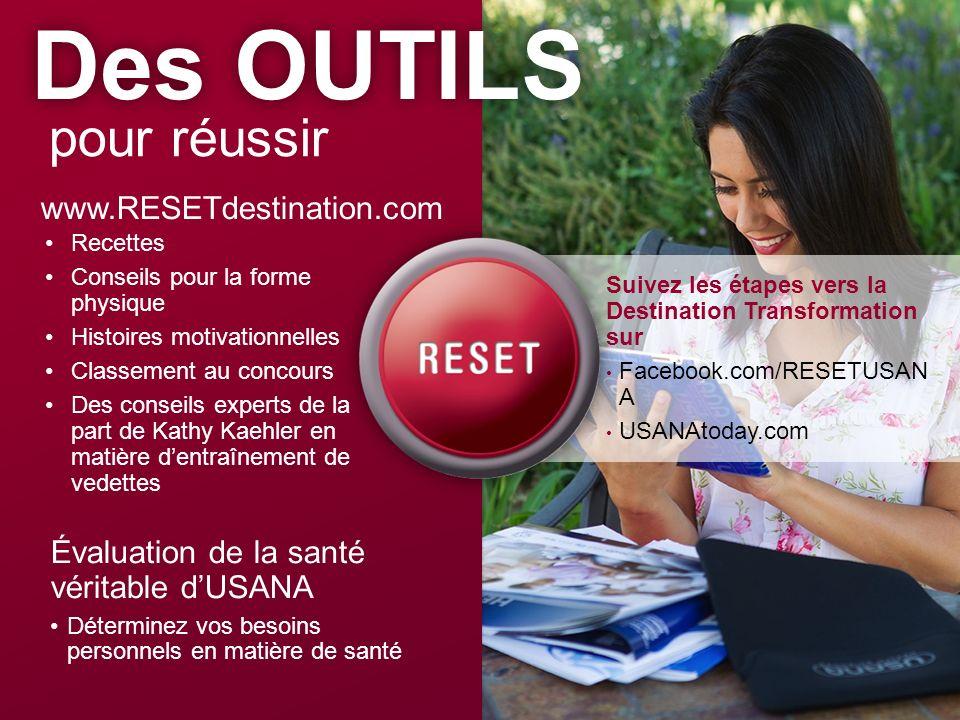 Des OUTILS pour réussir www.RESETdestination.com