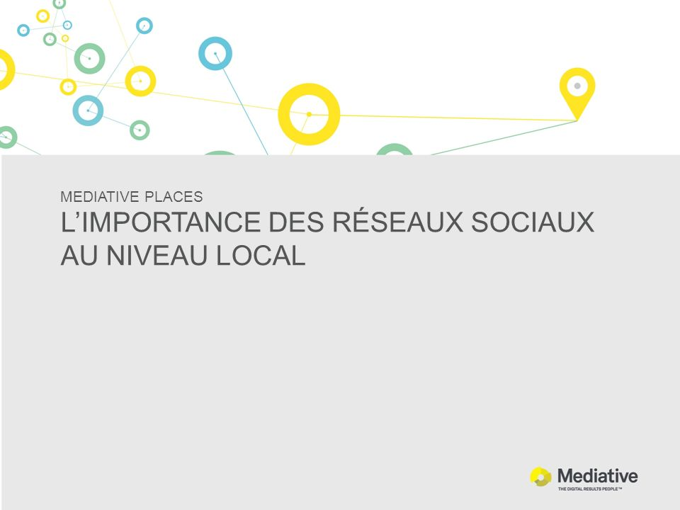 MEDIATIVE PLACES L'IMPORTANCE DES RÉSEAUX SOCIAUX AU NIVEAU LOCAL