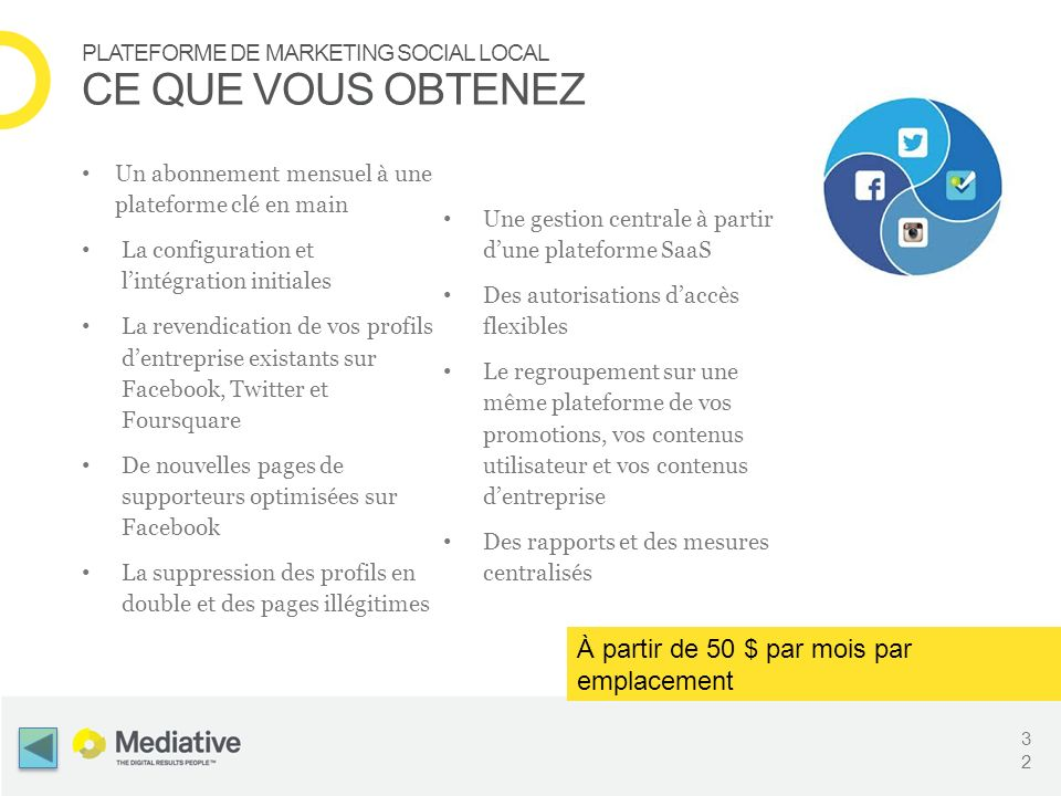 PLATEFORME DE MARKETING SOCIAL LOCAL CE QUE VOUS OBTENEZ