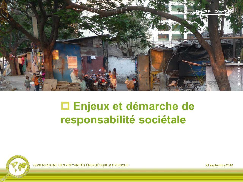 Enjeux et démarche de responsabilité sociétale