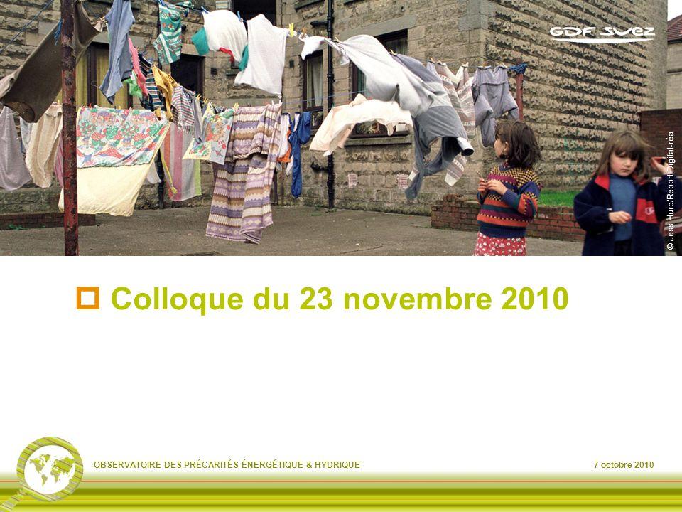 Colloque du 23 novembre 2010 © Jess Hurd/Report Digital-réa
