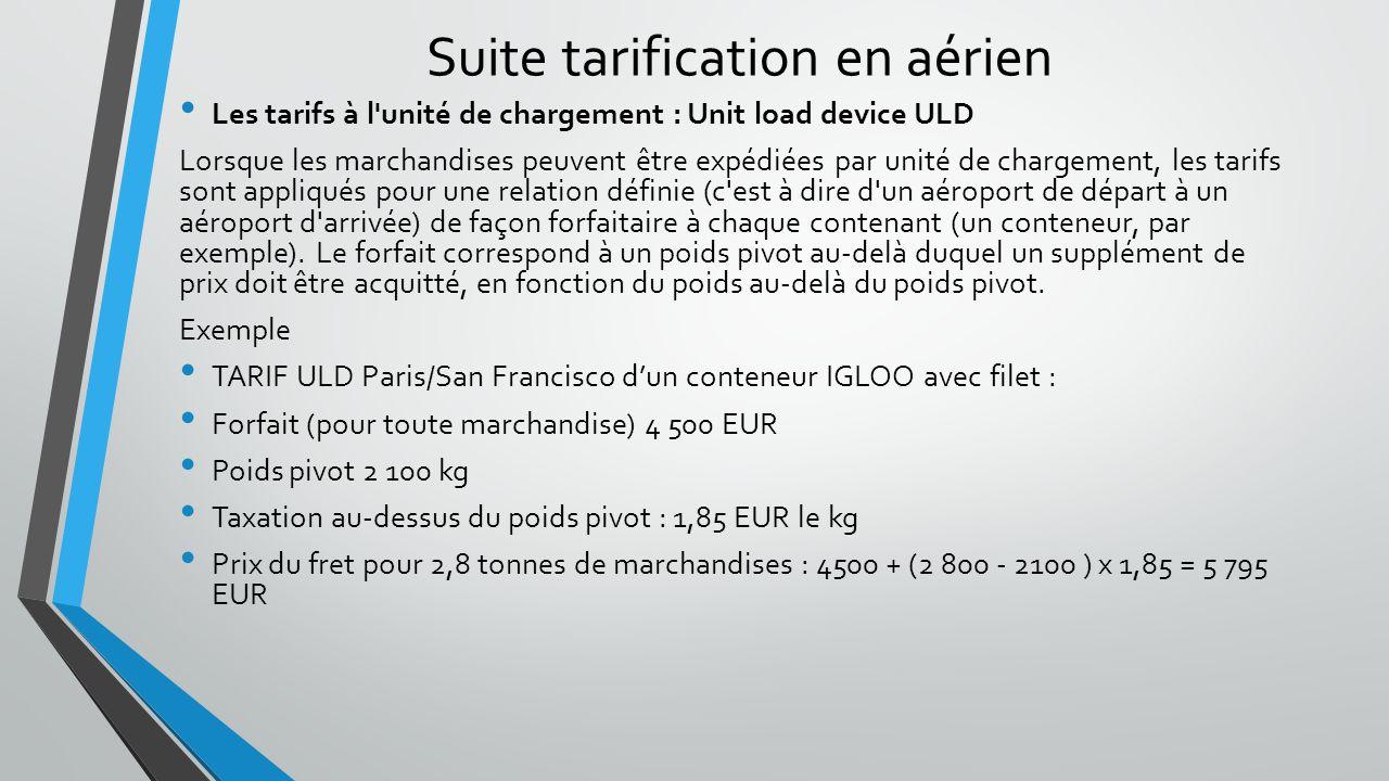 Suite tarification en aérien