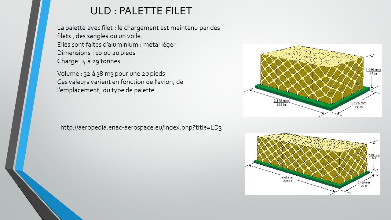 ULD : PALETTE FILET