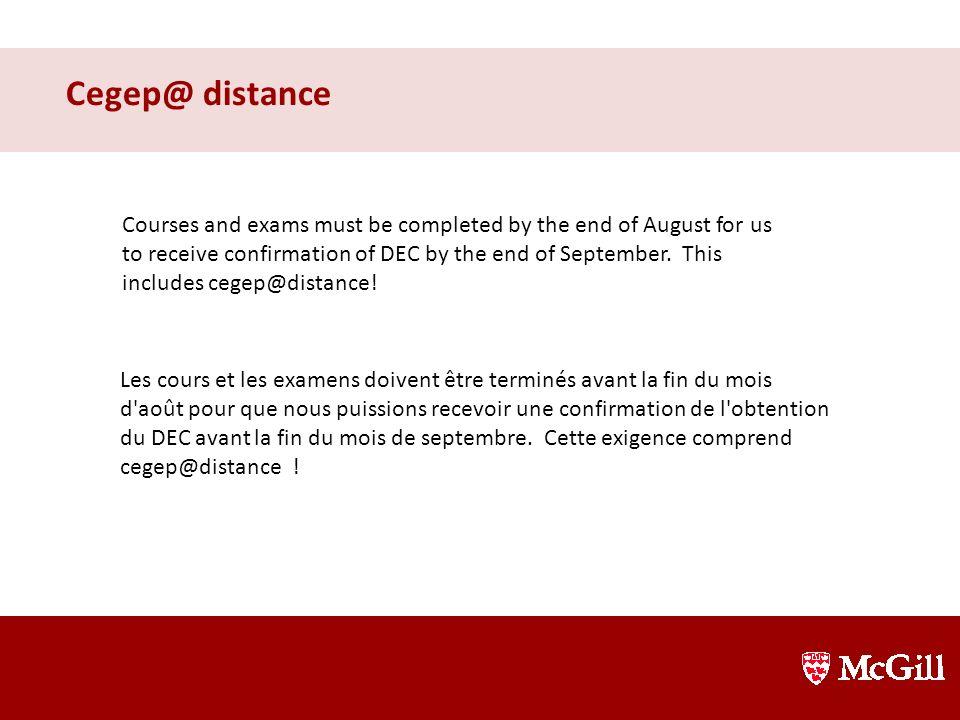 Cegep@ distance