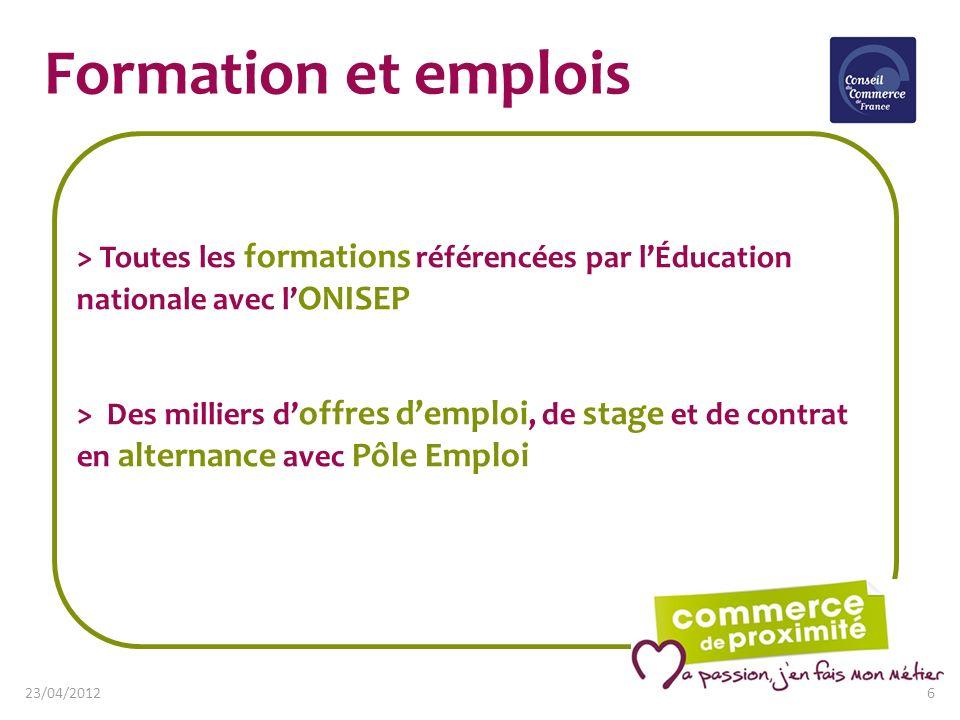 Formation et emplois> Toutes les formations référencées par l'Éducation nationale avec l'ONISEP.