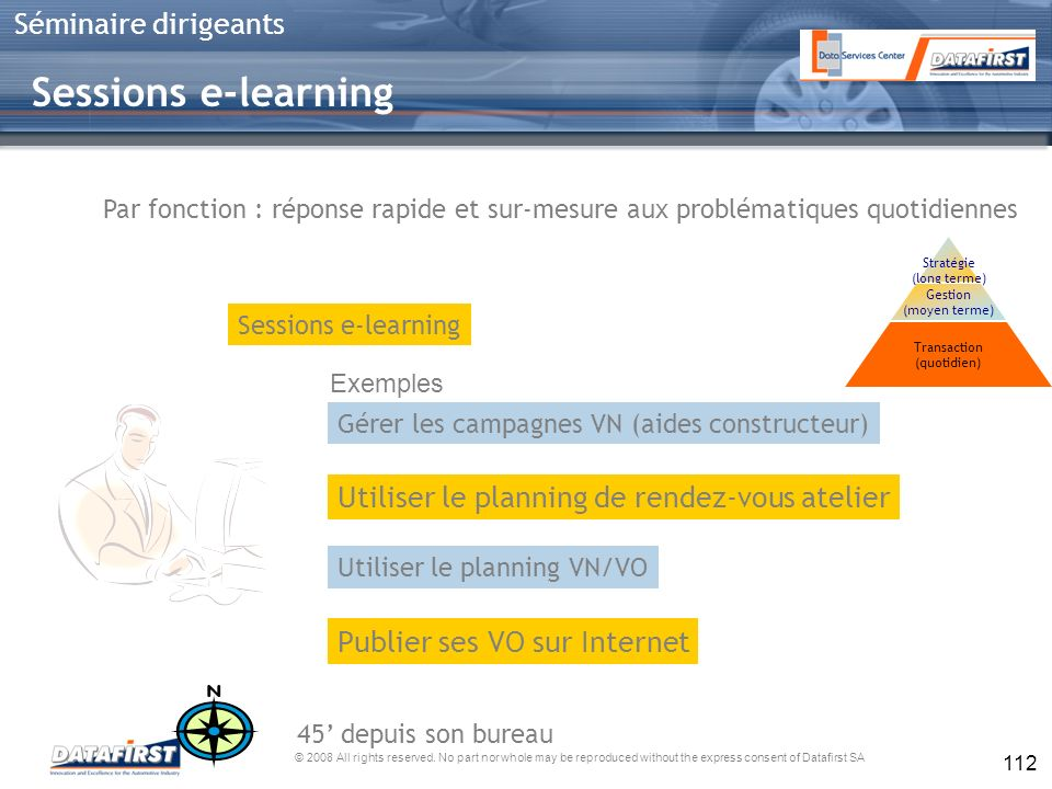 Sessions e-learning Utiliser le planning de rendez-vous atelier