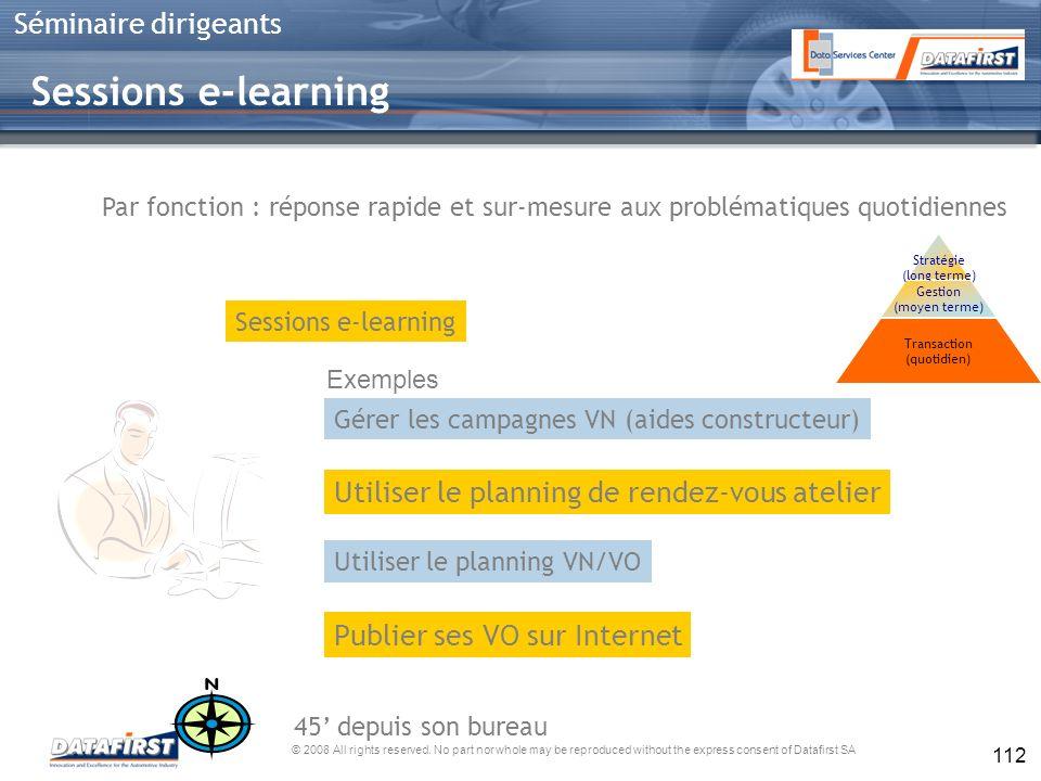 Sessions e-learning Utiliser le planning de rendez-vous atelier