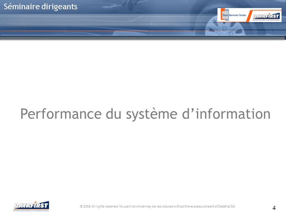 Performance du système d'information