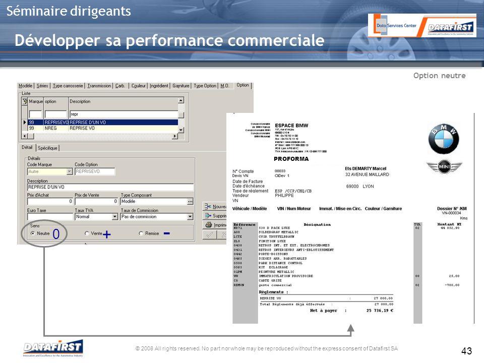 - Développer sa performance commerciale + Option neutre