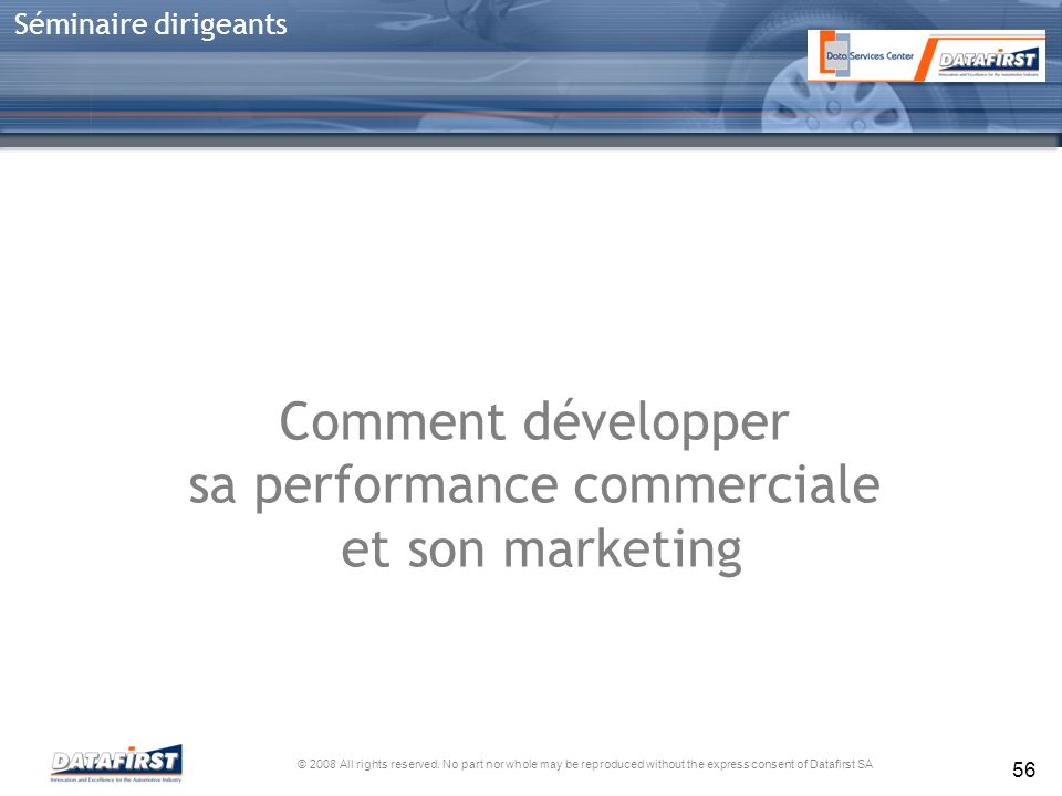 sa performance commerciale