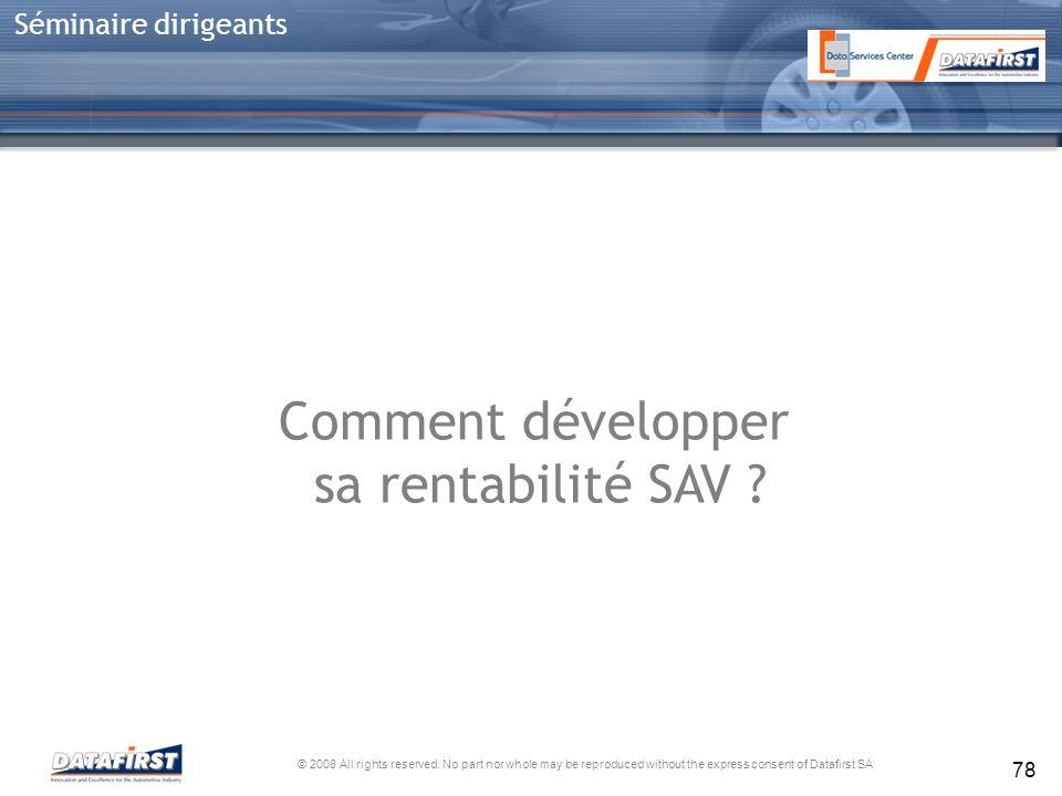 Comment développer sa rentabilité SAV