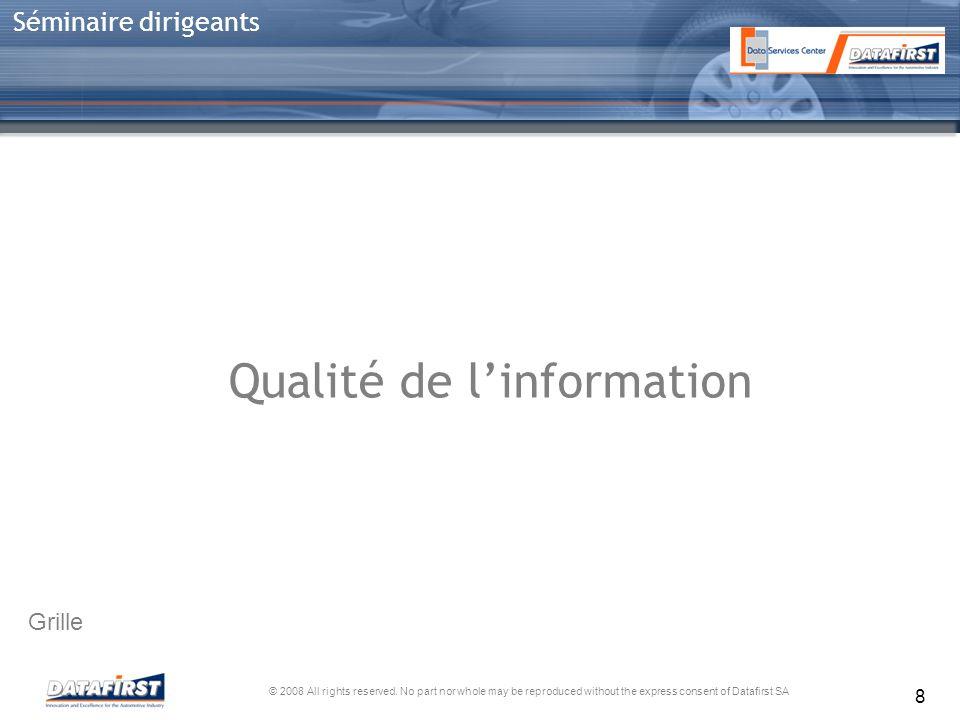 Qualité de l'information