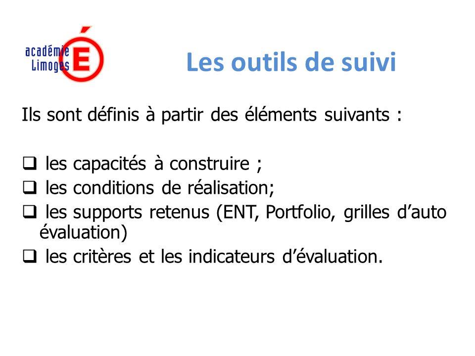 Les outils de suivi Ils sont définis à partir des éléments suivants :