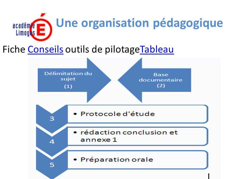 Une organisation pédagogique