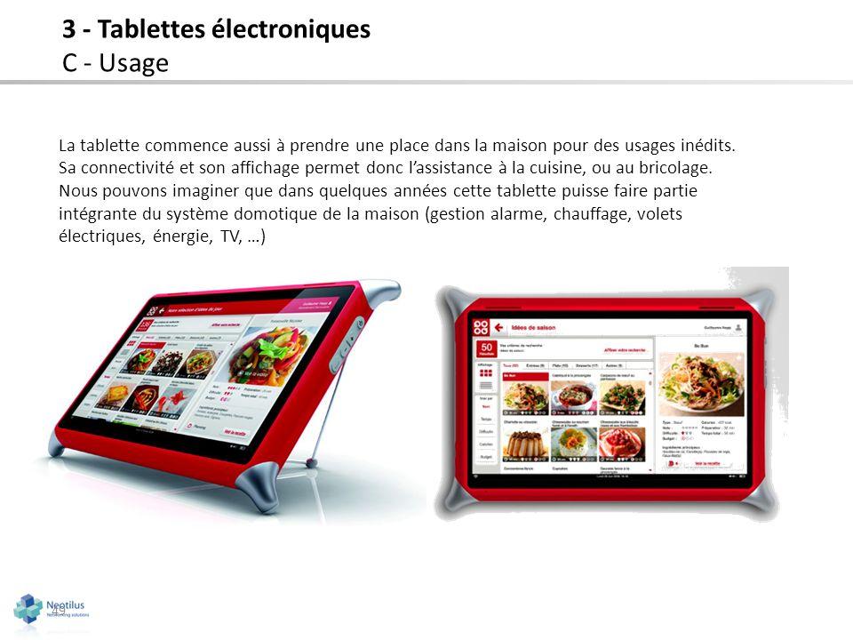 3 - Tablettes électroniques C - Usage