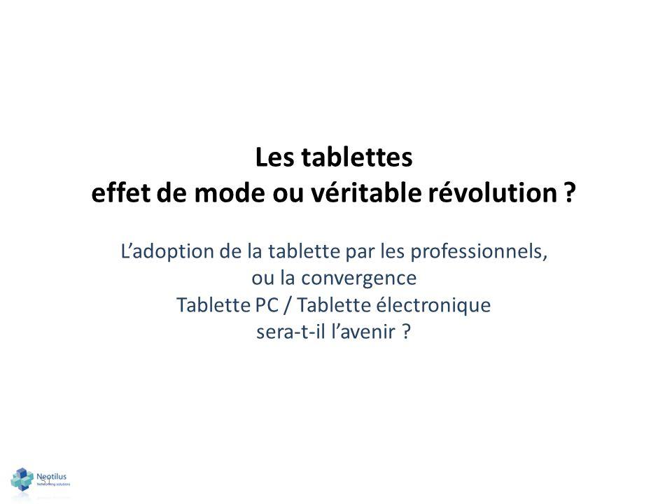 Les tablettes effet de mode ou véritable révolution