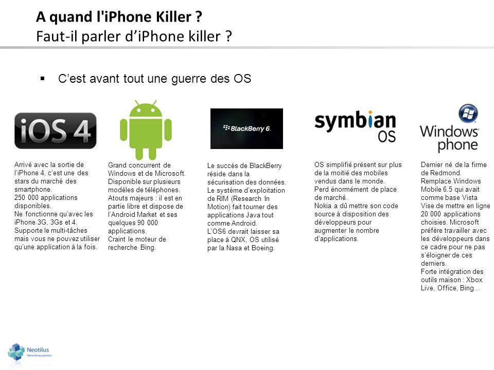 Faut-il parler d'iPhone killer