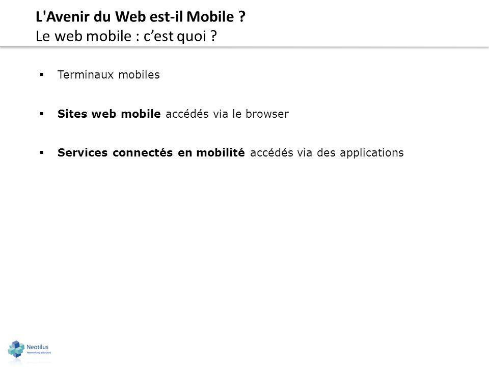L Avenir du Web est-il Mobile Le web mobile : c'est quoi