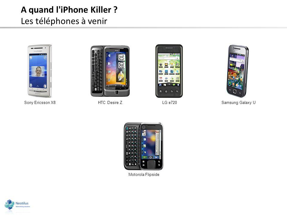 A quand l iPhone Killer Les téléphones à venir Sony Ericsson X8