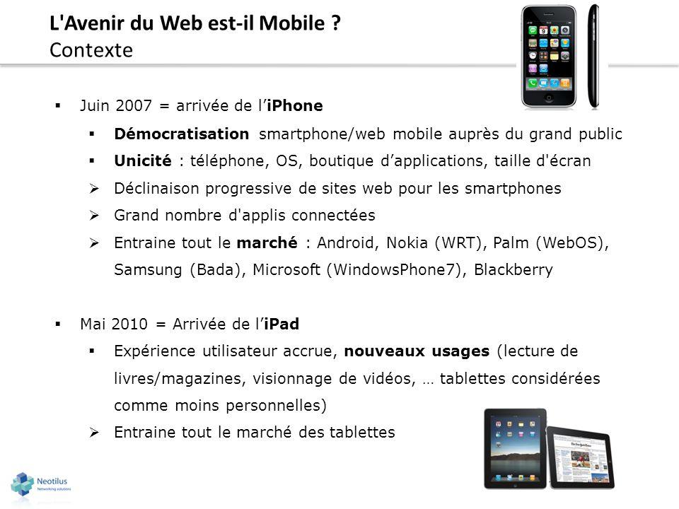 L Avenir du Web est-il Mobile Contexte
