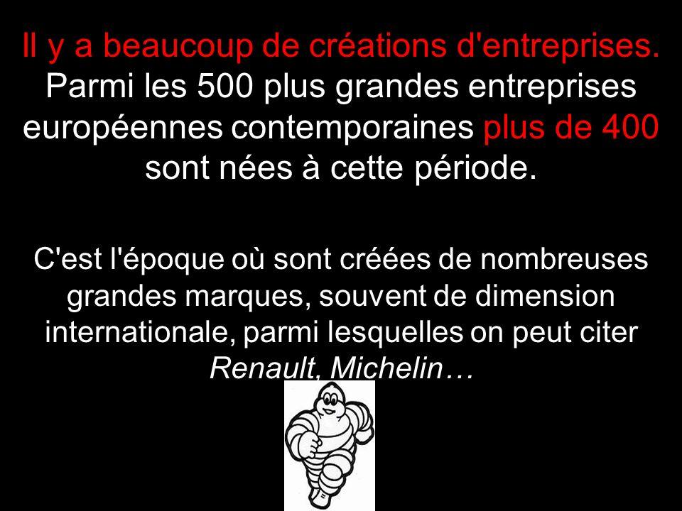 Il y a beaucoup de créations d entreprises