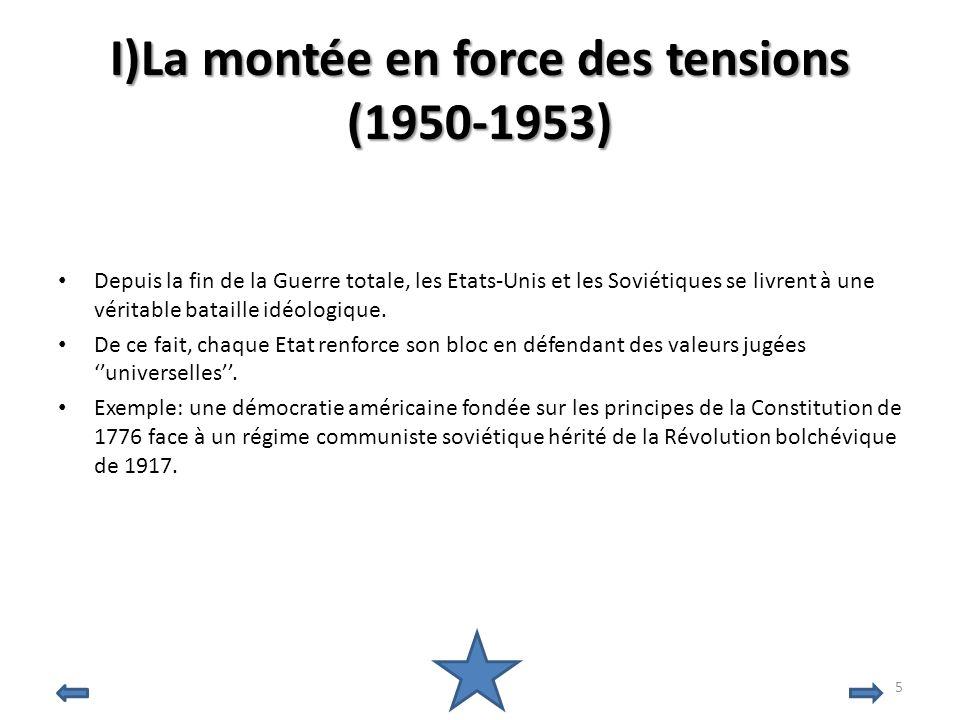 I)La montée en force des tensions (1950-1953)