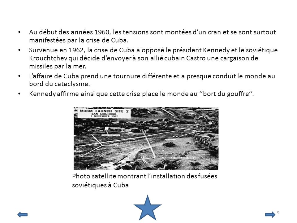 Photo satellite montrant l'installation des fusées soviétiques à Cuba