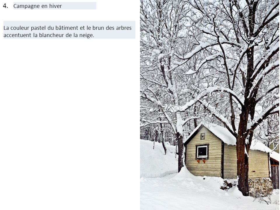 4. Campagne en hiver.
