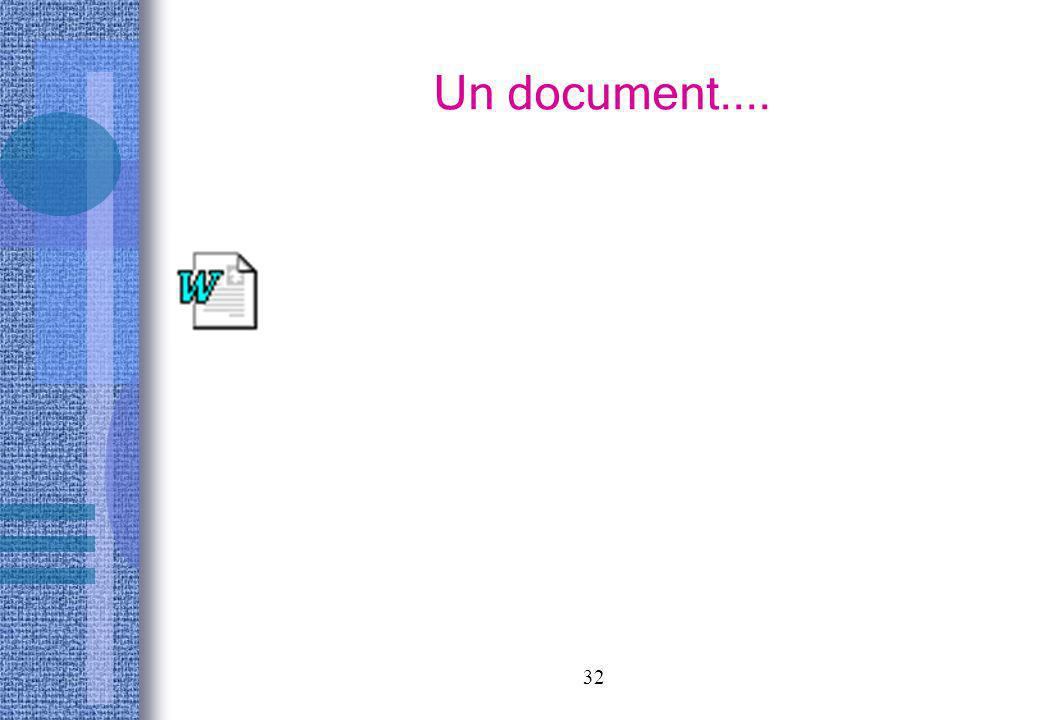 Un document....
