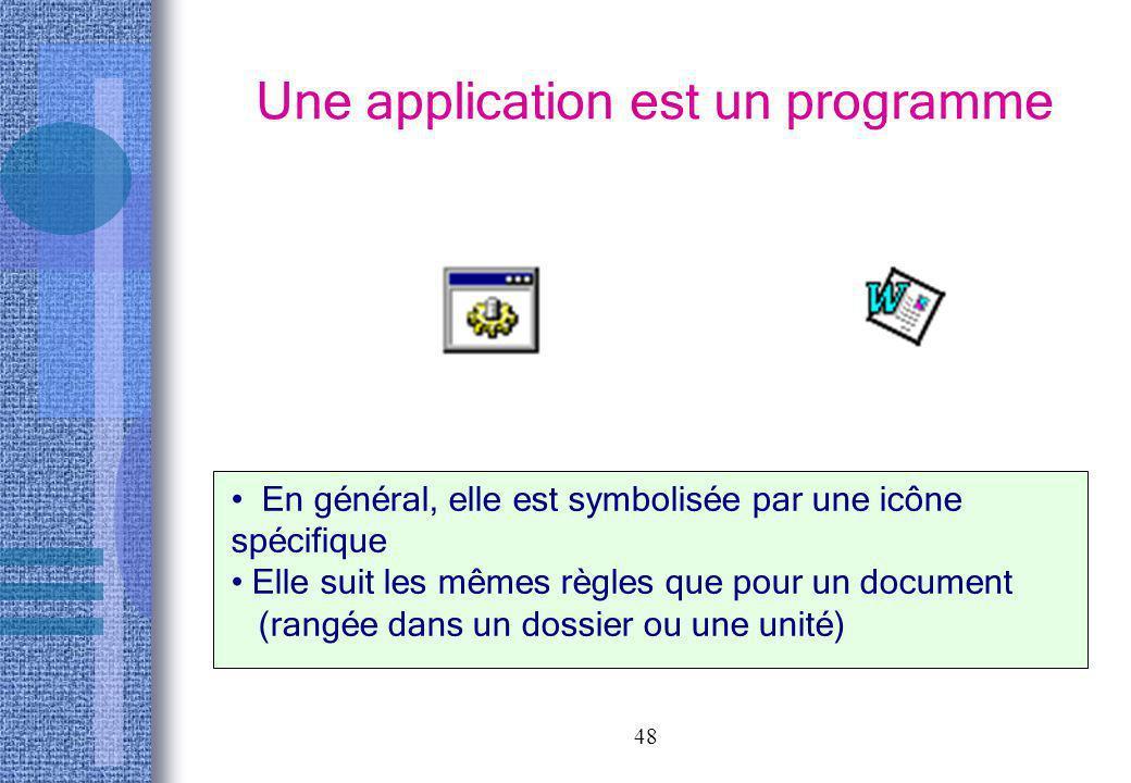 Une application est un programme