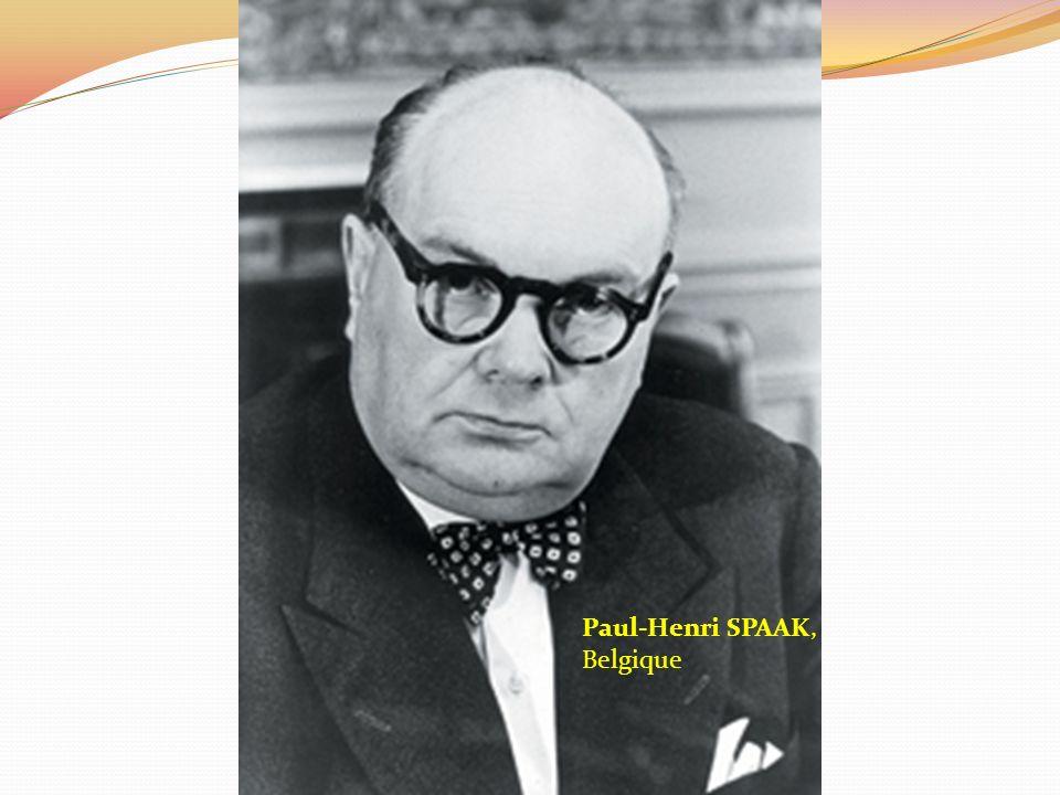 Paul-Henri SPAAK, Belgique